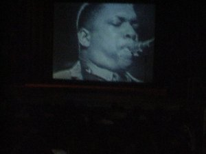 The giving spirit of John Coltrane was all around us. Teacher Ms. Passarella quoted Elvin Jones, Coltrane's gifted drummer. He said that,