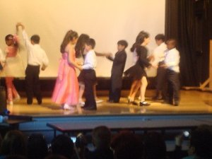 The children dancing an original dance which they called Chasin the Trane.
