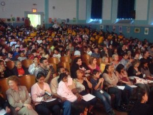 Parents of our stars in the front rows with Superintendent of Schools Anita Saunders far left first row.
